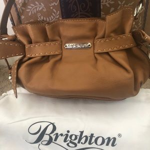 Brighton Bags - Brighton Mindy bow tan leather shoulder bag